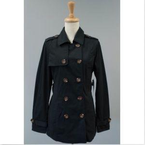 Women's Black Lightweight Jacket Pea Coat